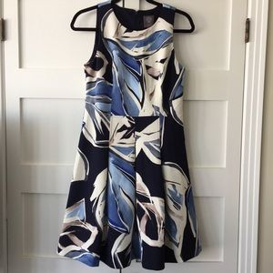 Vince Camuto scuba fit and flare dress 10
